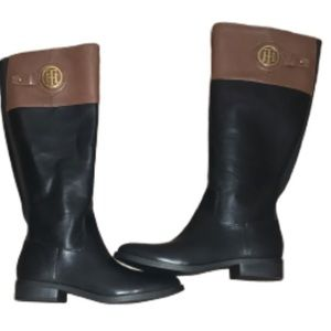 Tommy Hilfiger Two Tone Riding Boots